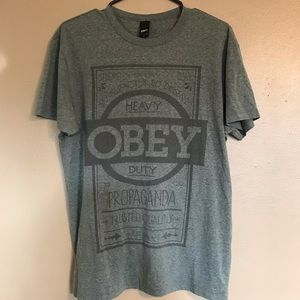 Army Green Men's L Obey Tee